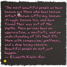 Beautiful People don't just happen...