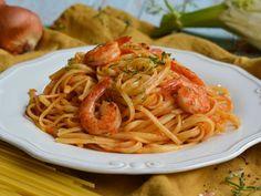 Γαριδομακαρονάδα με λιγκουίνι Food To Make, Seafood, Spaghetti, Pasta, Ethnic Recipes, Greek Recipes, Sea Food, Noodle, Pasta Recipes