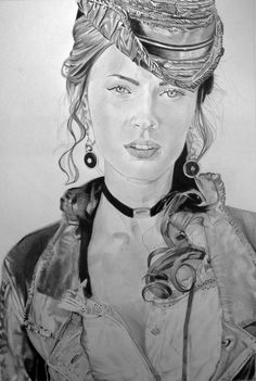 Megan Fox by Portrait Lc https://www.facebook.com/PortraitLc  #art #drawing #Graphit #portrait #black #white