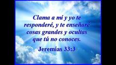 LUIS ALVAREZ   JEREMIAS 33 VERSICULO 3