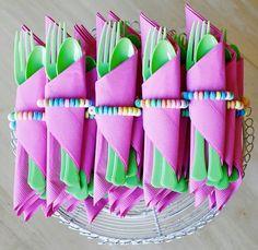 Envueltos Candy-utensilios