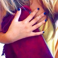 Perfect combination #fringe #clutch #bluenails