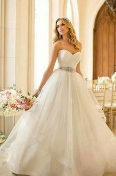 Stella York Spring 2014 wedding dress fashion strapless gown