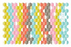 2014 Calendar Tea Towel Hex-Code fabric by heatherdutton on Spoonflower - custom fabric
