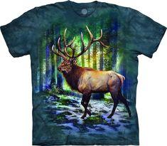 16d52d5c718d The Mountain Sunlit Elk T Shirt MOOSE ELK ANTLERS FOREST HUNTER Tee S-4XL  5XL