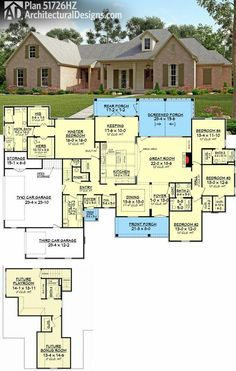 Looove the layout especially the bonus rooms and extra garage... all we need to add is a 'war room' which could possibly be the room for storage under the stairs??