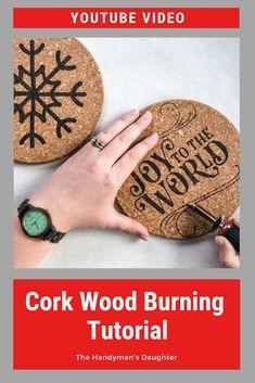 Cork Wood Burning Tips [Video] – Tik wood art Wood Burning Tips, Wood Burning Techniques, Wood Burning Crafts, Wood Burning Patterns, Wood Burning Projects, Cork Wood, Diy Wood, Wood Burning Stencils, Cork Trivet