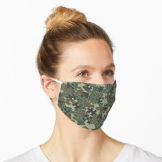 """""""Jigsaw Puzzle Pieces Camo WOODLAND GREEN"""" Mask by GrandeDuc 
