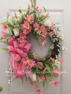 A personal favorite from my Etsy shop https://www.etsy.com/listing/285661343/pink-spring-wreath-easter-wreath-mothers