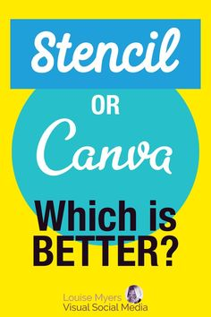 Looking for a graphic design tool that's fast and easy? Check out this comparison of Canva and Stencil! See which is best for your needs, from social media visuals to products to business publications. Social Media Images, Social Media Graphics, Social Media Tips, Social Media Marketing, Graphic Design Tools, Tool Design, Twitter Tips, What To Use, Printable Designs