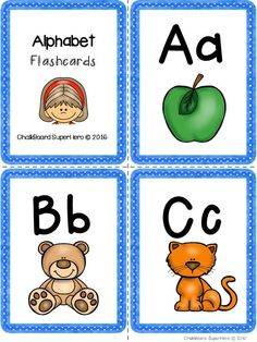 This Alphabet Flashcards Pack Has 2 Different Sets Of Full Color For All 26 Letters