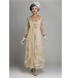 Brings back memories of the best episodes of the world's most famous TV drama with this superb Pearl Downton Abbey Tea Party Gown from Nataya. Click for more details.