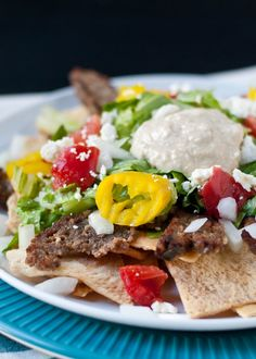 Greek Gyro Nachos | Neighborfoodblog.com
