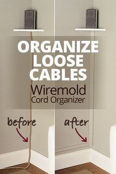 The Wiremold CornerMate Cord Organizer lets you hide and organize loose cables by running them along a corner of your room — perfect for concealing the speaker wire connected to wall-mounted speakers. Installation's easy using the included adhesive strips. And you can paint the cover to match your room.