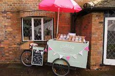 Vintage Sweet Shop Bike - Elsies Ices - Delicious Delights from a Vintage ice cream Van.  So cute ... Makes a great alternative to wedding favours