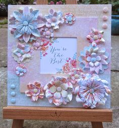 Use A Frilly Thinlit To Cut Out The Card Then Add Sentiment And Embellishments Pretty
