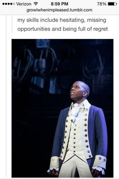 Wow because of this post I have discovered that I am a lot like Aaron Burr.....crap