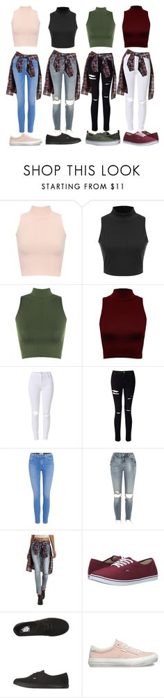 """First Day of School squad outfits"" by autumn-aaliyah ❤ liked on Polyvore featuring WearAll, Miss Selfridge, Paige Denim, River Island, Refuge and Vans"