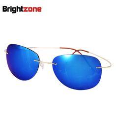 >> Click to Buy << 2017 Bestseller Ultralight Rimless Titanium Polarized Sunglasses Men Women Driving Fishing Brand Sun Glasses Shade Oculos De Sol #Affiliate