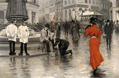 Paul Fischer, Donna in rosso (1900 c.)
