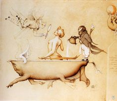 Running the Bath by Michael Parkes