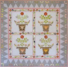 Miz Kelly applique quilt pattern by Irene Blanck (Australia)