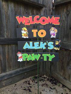 Paw Patrol Lawn Sign.