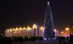 Bishkek, Kyrgyzstan #travel #winter #christmas #christmas tree #jelka #new year #nova godina #lights