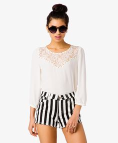 Studded Lace Georgette Blouse   FOREVER21 - 2035085257. NEED THIS NOW!