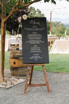 After six years, two states, and three apartments, this darling duo made it official in one wowza winery wedding . Straight from the lens of Elisabeth Millay , their special day was filled with an . Wedding Signage, Wedding Menu, Wedding Reception, Our Wedding, Wedding Bands, Wedding Ideas, Decor Wedding, Wedding Images, Luxury Wedding