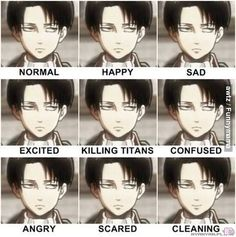 Levi, you need more expressions<----he's like that girl from twilight. I…
