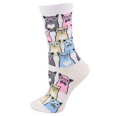 Absolute Socks - Smarty Cats Socks, $7.99 (http://www.absolutesocks.com/ladies-novelty/animal-socks/cat-socks/smarty-cats-socks/)