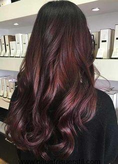 Dunkel Braun Haarfarbe Idee