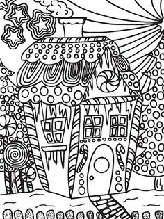 Abstract Doodles: Free Christmas Doodles to Color