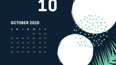 Scroll down to find the best free printable October 2020 calendars and get them right now. October Calendar Printable, Monthly Calendar Template, Free Printable Calendar, Calendar 2020, Free Printables, Halloween Date, State Holidays, Sweetest Day, Circles