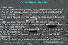 Colloidal silver to your health Info graphic by http://amazinghealth.com/