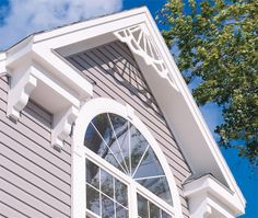House color asbestos siding exterior home for Gable decorations home depot