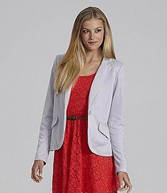 GB Long Sleeve Foil Blazer #Dillards