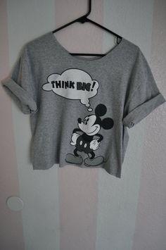 THINK BIG mickey mouse disney t-shirt. $15.00, via Etsy.