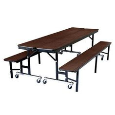 "National Public Seating Rectangular Cafeteria Table Tabletop Color: Montana Walnut, Size: 84"" L x 29"" W, Material: MDF"