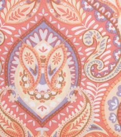 "Keepsake Calico™ Cotton Fabric 43""-Spring Floral Paisley Medallion"