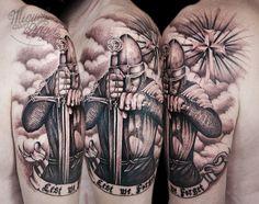 Templar knight custom tattoo | Miguel Angel Custom Tattoo Ar… | Flickr