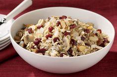 Mushroom, Almond and Cranberry Rice Pilaf recipe