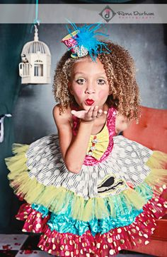 As seen in Babiekins Magazine, Jubilee Circus Clown, Birthday Dress, Photo Prop, Mad Hatter, Marionette Costume. $240.00, via Etsy.