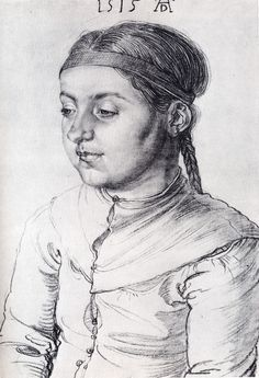 Albrecht Dürer ~ Portrait of a Girl, 1515 (charcoal)