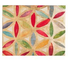 Gold Leaf Trellis Canvas 1