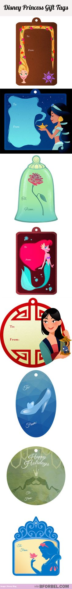 Disney Princess Gift Tags To Take Your Gift Wrapping To The Next Level…
