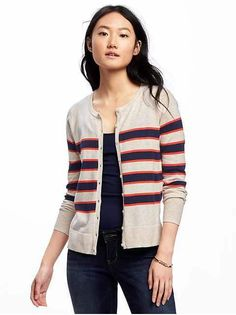 Old Navy Sweaters. Neutrals in a fun, preppy print.