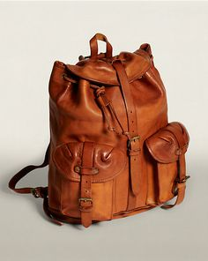 abe557cd25a3 Riley Leather Rucksack - Travel Bags Bags   Business Accessories -  RalphLauren.com バックパック