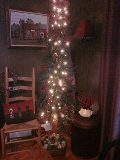 Rustic dining room Christmas Tree